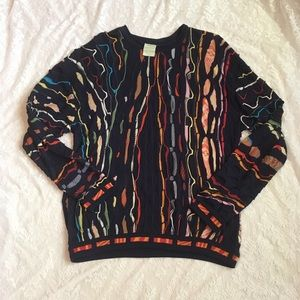 Authentic VTG Coogi colorful pure silk sweater